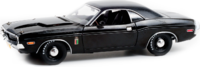 1970 DODGE CHALLENGER R/T 426 HEMI THE BLACK GHOST in 1:18 scale in Greenlight