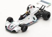 Brabham BT44B No.8 Winner Brazilian GP 1975 Carlos Pace in 1:18 scale by Spark