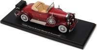 1930 Pierce Arrow Model B Roadster  in Maroon in 1:43 Scale by Esval Models