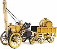 1829 Yellow Stephenson Rocket Steam Locomotive by Old Modern Handiscrafts