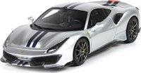 2018 Ferrari 488 Pista High End Resin Model in Silver Grey 1:43 scale by BBR