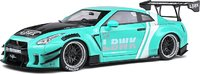 NISSAN GTR 35 LB WORK Mint Green in 1:18 scale by Solido