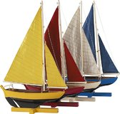 Sunset Sailors, Set of 4 Model Sailboat by Authentic Models