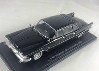 1958 Chrysler Crown Ghia Sedan Black Resin Model Car in 1:43 Scale by Neo