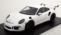 Porsche 991 GT3 RS 2016 White Resin Model Car in 1:12 Scale by Spark
