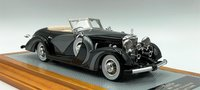 1935  Mercedes-Benz 500K sn123696 Saoutchik Cabriolet Top Down in 1:43 Scale by Ilario