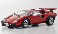 """LAMBORGHINI COUNTACH LP500S """" WALTER WOLF"""" in RED W/TAN in 1:18 Scale by Kyosho"""