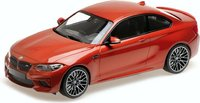 2019 BMW M2 Competition Orange Metallic in 1:18 Scale by Minichamps