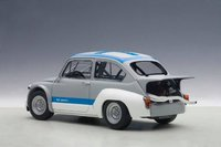Fiat Abarth 1000 TCR in Matt Grey/Blue Stripes Model Car by AUTOart in 1:18 Scale