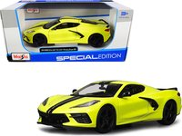 2020 Chevrolet Corvette Stingray in Yellow in 1:24 Scale by Maisto
