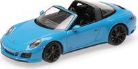 2017 Porsche 911 (991.2) Targa 4 GTS Miami Blue in 1:43 scale by Minichmps