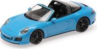 2017 Porsche 911 (991.2) Targa 4 GTS Miami Blue in 1:43 scale by Minichmps