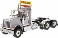 International HX520 Day Cab Tandem Tractor Light Grey in 1:50 scale by Diecast Masters