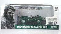 1956 Jaguar XKSS with Steve McQueen Figure Model Car 1:43 GREEN WHEELS by Greenlight