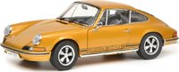 1973 Porsche 911 coupe in metallic gold in 1:18 scale by Schuco