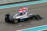 2014 Mercedes F1 Winner Abu Dhabi GP Lewis Hamilton World Champion 1:18 by Spark