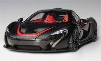 McLaren P1 in Matt Black w Red Accents 1:12 Scale by AUTOart