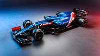 Alpine A521 No.14 Bahrain GP 2021 Fernando Alonso in 1:43 scale by Spark