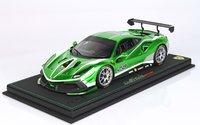 Ferrari 488 Challenge 2020 Verde Cromato in 1:18 scale by BBR