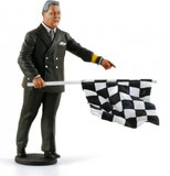Director of the Course w/checkered flag 1950-1970's in 1:18 scale by Minichamps