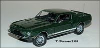 1968 Shelby GT-500KR Fastback- Signed in 1:24 by The Franklin Mint