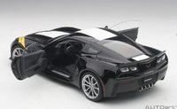 2017 Corvette C7 Grand Sport in Black Model in 1:18 Scale by AUTOart