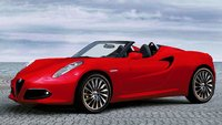 2015 Alfa Romeo 4C Spider (Euro-spec) in Rosso Alfa Model Car in 1:43 Scale by Truescale Miniatures