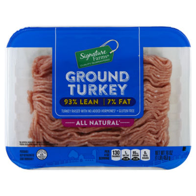 Signature Farms Turkey Ground Nutrition Ingredients Greenchoice