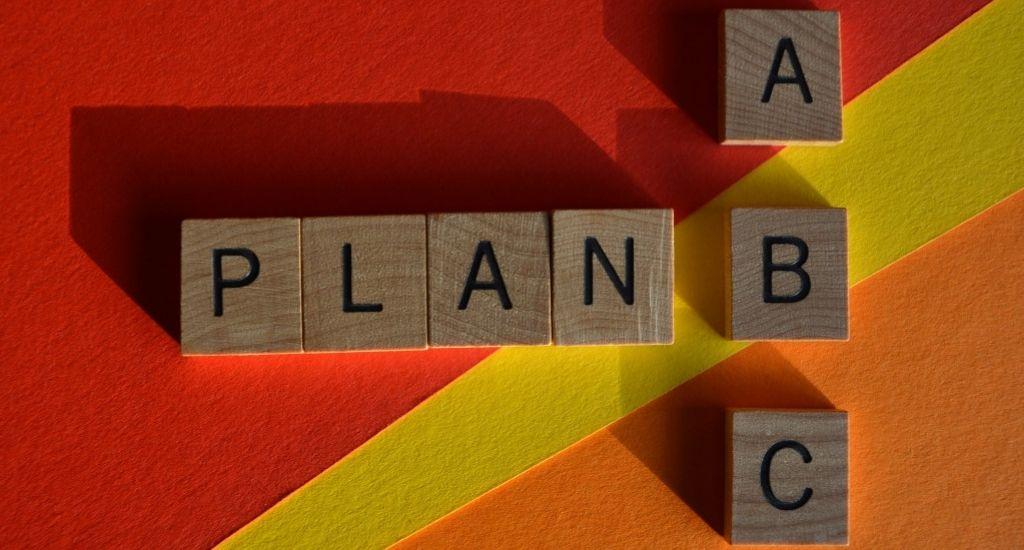 Plan A, B, C marketing strategy concept