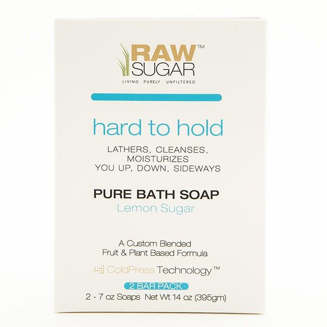 raw sugar hard to hold pure bath soap