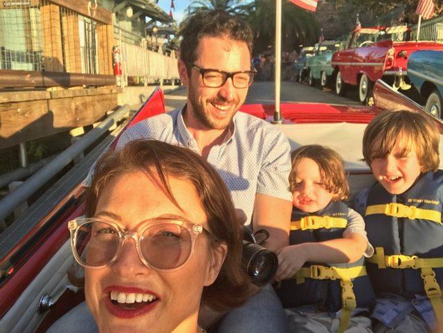 family in amphicar