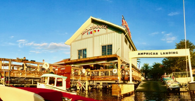 the boathouse with amphicar outside