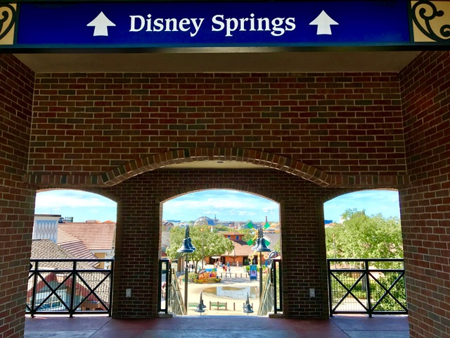 Disney Springs parkling lot