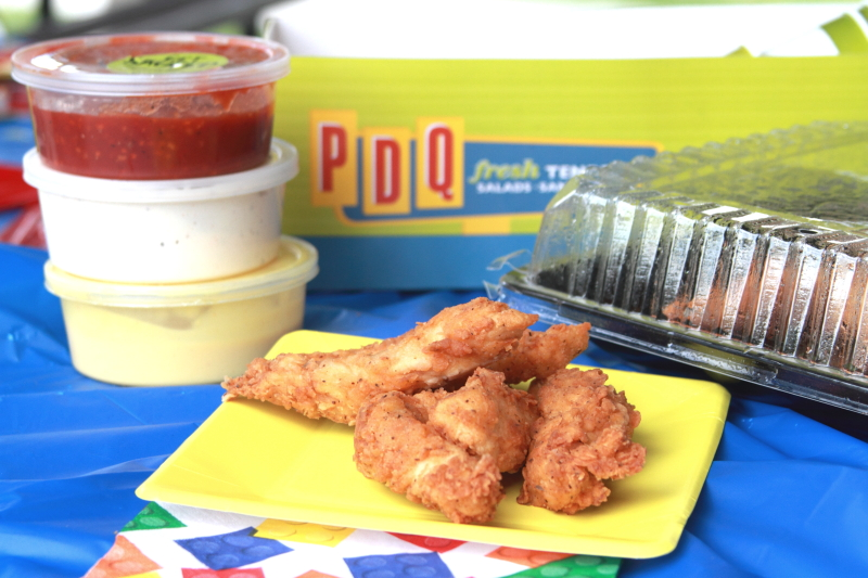 display of chicken tenders from PDQ
