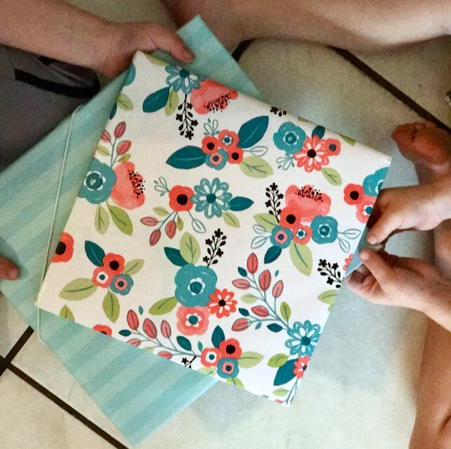 pretty flower gift wrap for books