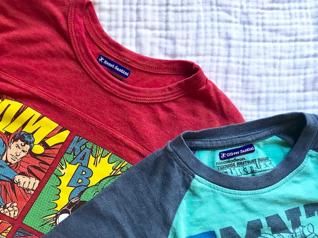 tee shirts with labels