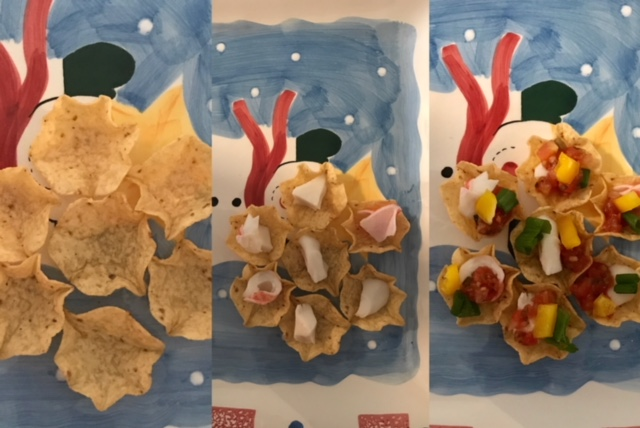 Chips with crab inside
