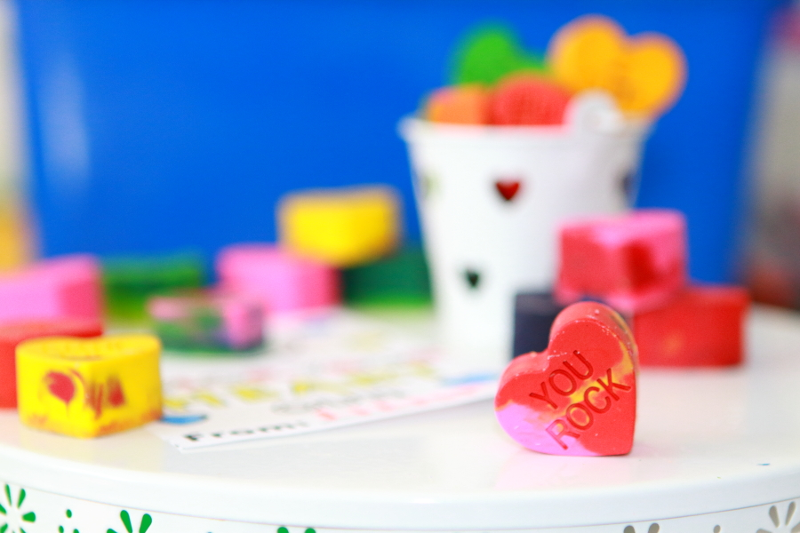 How to Make Non Candy Valentine's Conversation Starters with Recycled Crayons