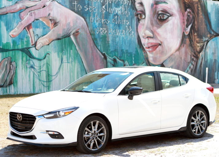 Taking on CityPlace in the New Mazda3 Grand Touring 4-Door