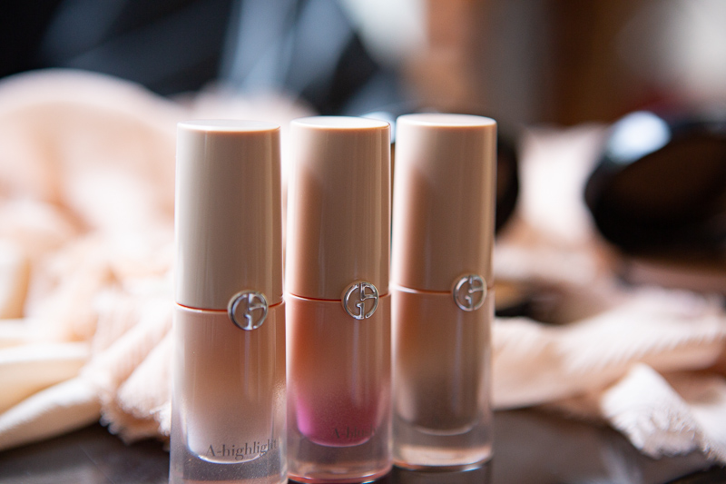 Giorgio Armani Neo Nude Collection with highlighter, blush and contour