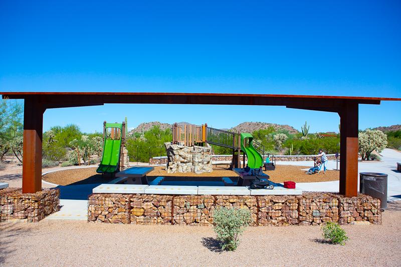 empty playground in arizona