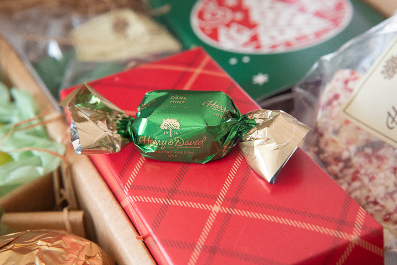 one harry and david wrapped holiday chocolate