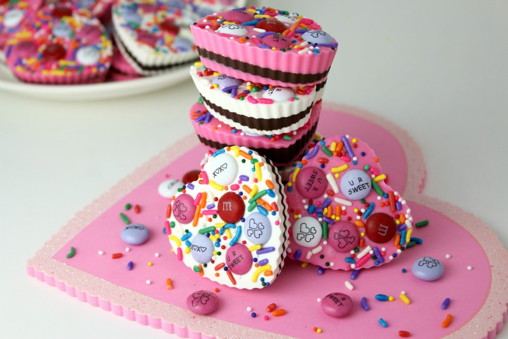 candy hearts with chocolate