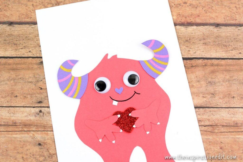 pink monster card