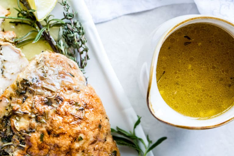Instant Pot Turkey Breast with Garlic Butter Gravy {Gluten-Free, Low Carb, Keto}