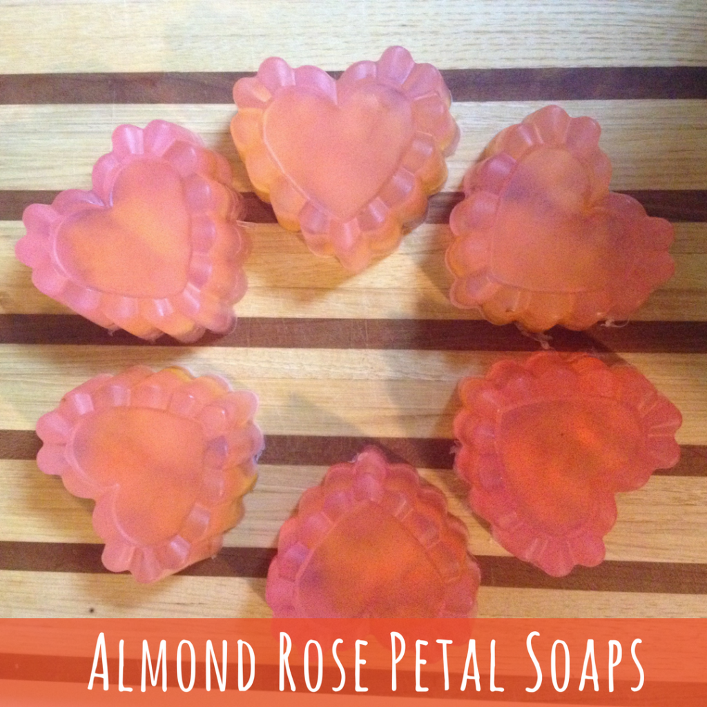 pink heart-shaped soaps