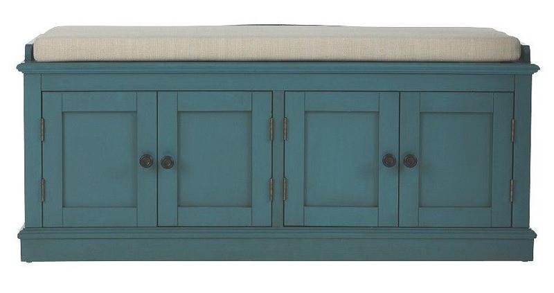 Laughlin Antique Blue Storage Bench