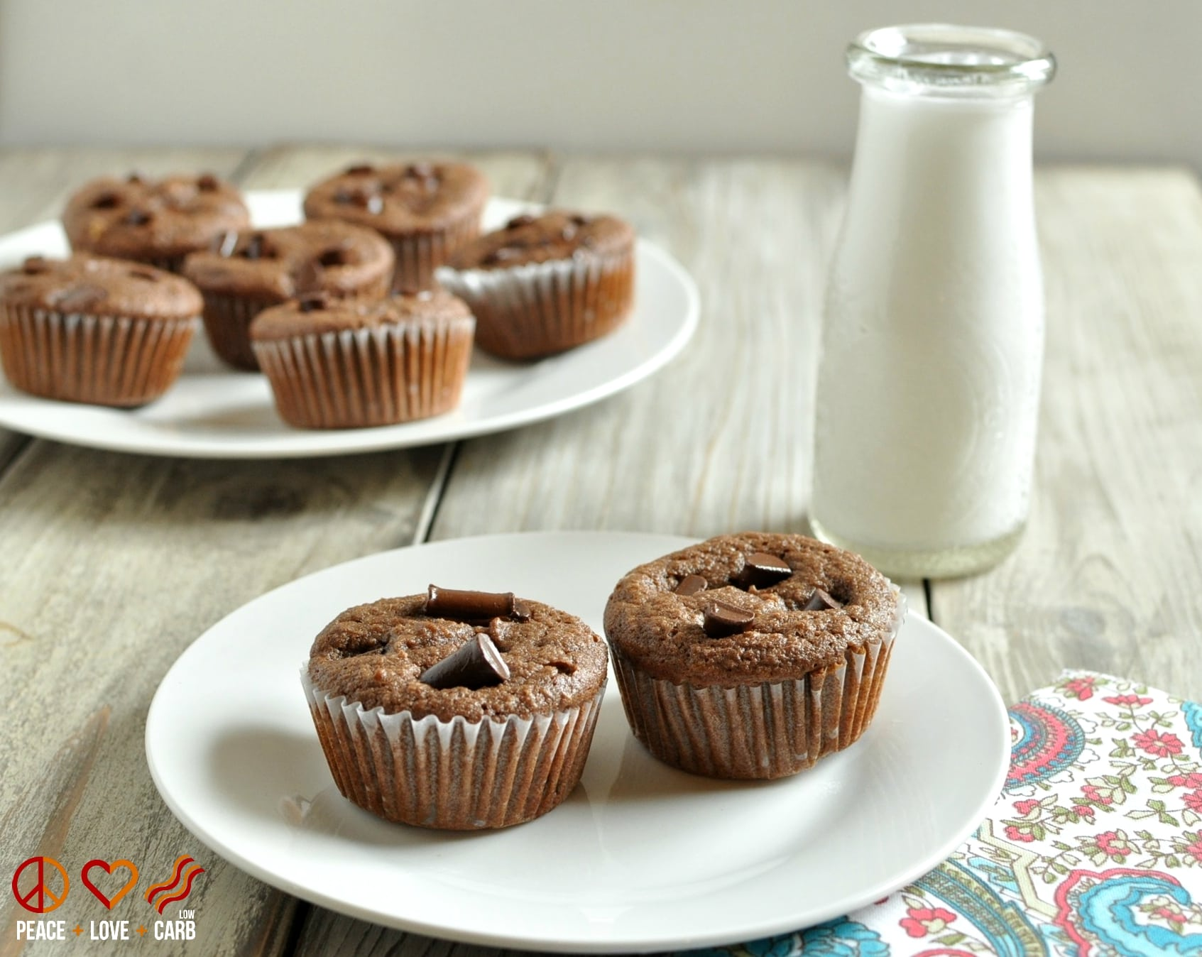 Low Carb Chocolate Mocha Cupcakes