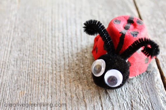 How to Make Ladybugs from a Recycled Egg Carton