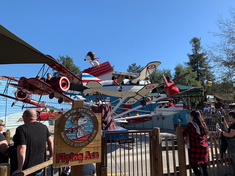 Flying ace ride at camp snoopy at Knottsberry Farm
